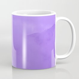 Lilac Fog Surrounding Anchorage Mountains Coffee Mug