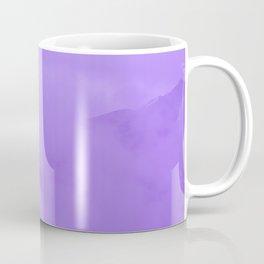 Lilac Fog Surrounding Anchorage Mountains Coffee Mug