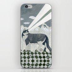 Beaming Cat iPhone Skin