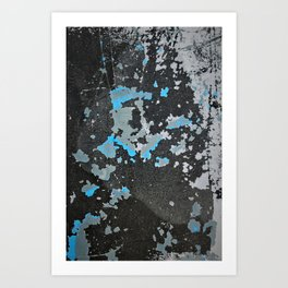Shades of Gray and Blue Art Print