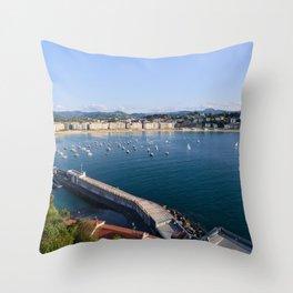 La Concha Bay. Donostia-San Sebastian, Spain. Throw Pillow
