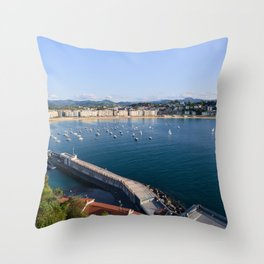 La Concha Bay. Donostia-San Sebastian, Spain. Throw Pillow