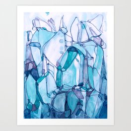 Tracing Blue Waters Art Print