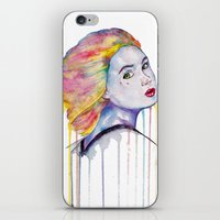 karen hallion iPhone & iPod Skins featuring Karen Gillan  by Jeremy Buckley illustration