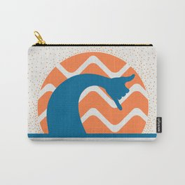 Hang Loose Wave // Sun Surfer Shaka Beach Retro Graphic Design Horizontal Daze Waves Carry-All Pouch