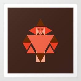 Human Traditional Triangle Art Art Print
