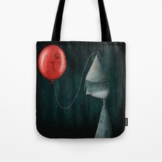 The Boy and the Balloon Tote Bag