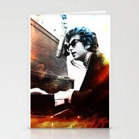 bob dylan Stationery Cards featuring Bob Dylan by Maioriz Home