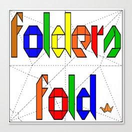 Folders Fold Canvas Print