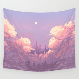 Pastel Castle Wall Tapestry