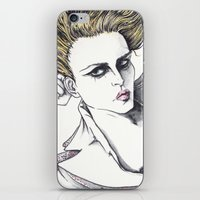 rogue iPhone & iPod Skins featuring Rogue by Rachel E Murray