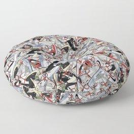 "Off-White ""The Ten"" Sneaker Collage Print Floor Pillow"