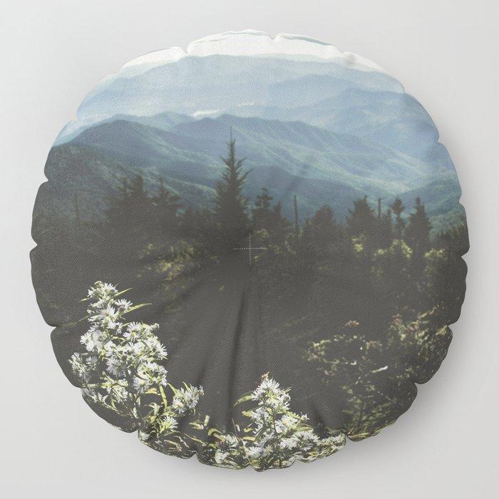 Smoky Mountains - Nature Photography Floor Pillow