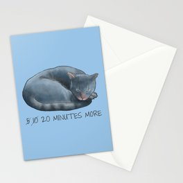 Sleepy Cat - 20 minutes more - Lazy Animals Stationery Cards