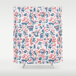 Merry Monsters Shower Curtain