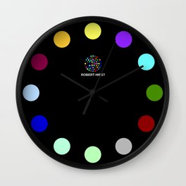 Robert Hirst Spot Clock Black Wall Clock