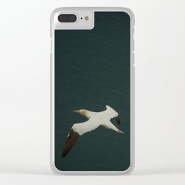 Soaring over the ocean Clear iPhone Case