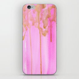 Pink and Gold iPhone Skin