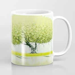 BY THE RIVER-SELLING FLOWERS Coffee Mug