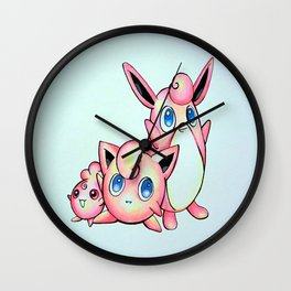 Jiggly, Wiggly, and Iggly Wall Clock