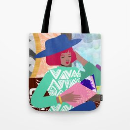 Poetry Reading Tote Bag