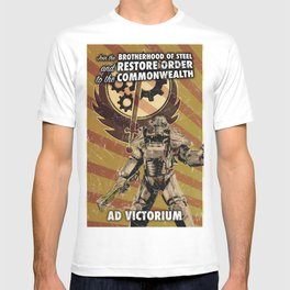 Fallout 4 - Brotherhood of Steel recruitment flyer T-shirt