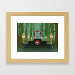 Stairway To The Temple Framed Art Print