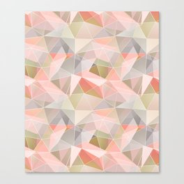 Broken glass in warm colors. Canvas Print