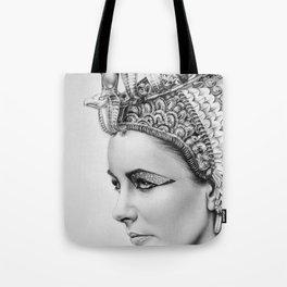 Elizabeth Taylor Cleopatra Portrait Tote Bag