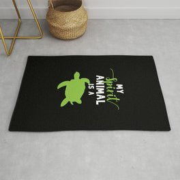 Spirit Animal Funny Turtle Gifts Turtle Lovers Gifts Rug