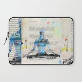 Yoga Book. Lesson 1 Concentration - painting - art print  Laptop Sleeve