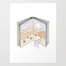 Let the Story Flow Art Print