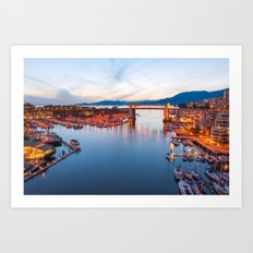 Vancouver Sunset Art Print