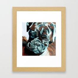 Smokey the Boxer Dog Framed Art Print