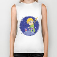 the little prince Biker Tanks featuring Little Prince by Bruna Sousa