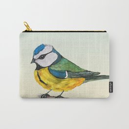 Blue tit watercolor Carry-All Pouch