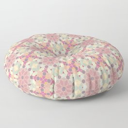 modern arabic pattern in pastel colors Floor Pillow