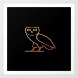 OvO Owl Drake Art Print
