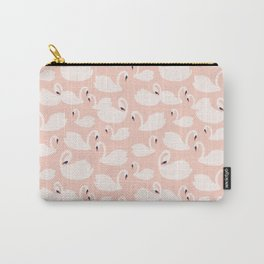 Blush Pink Swans Carry-All Pouch