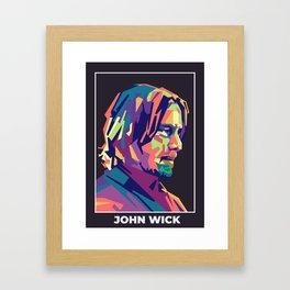 John Wick Pop Art Framed Art Print
