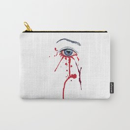 Blue eye with red paint Carry-All Pouch