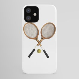 Vintage Tennis Rackets and tennis ball   iPhone Case