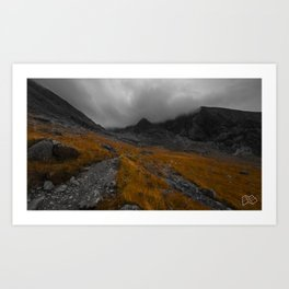 The Scottish Highlands in Autumn. Art Print