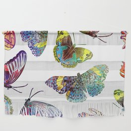 Butterfly Obsession in Blues Wall Hanging