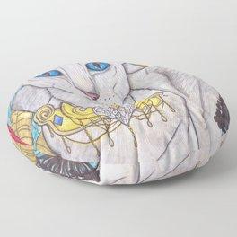Oriental short hair cat Floor Pillow