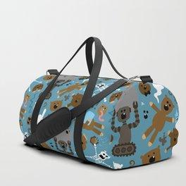 Crazy MonkeyTeddyBears Pattern Duffle Bag