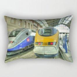 Marseille Trains of Grande Vitesse Rectangular Pillow