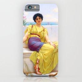 """John William Godward """"Idleness"""" iPhone Case"""