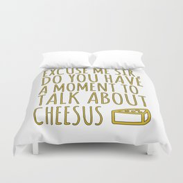 Funny Jesus Sarcasm Sarcastic Cheese Lover Gift Duvet Cover