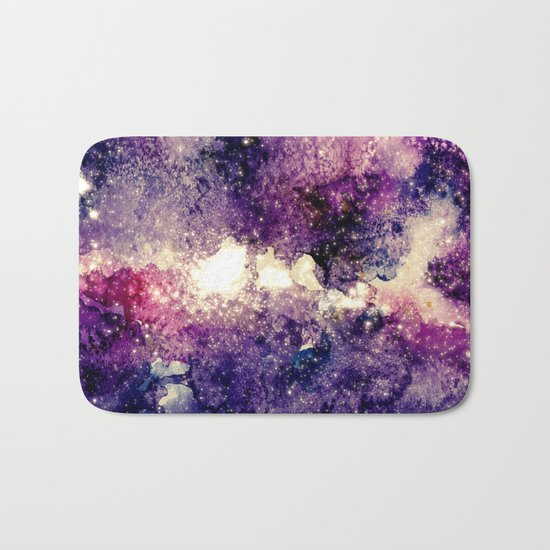 watercolor galaxy Bath Mat